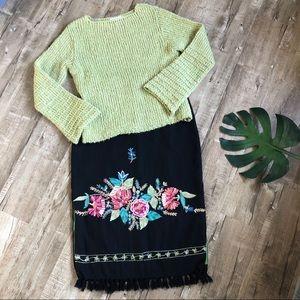 Relais Knitware Sweaters - Relais Boston Proper Celery Bell Sleeve Sweater Lg
